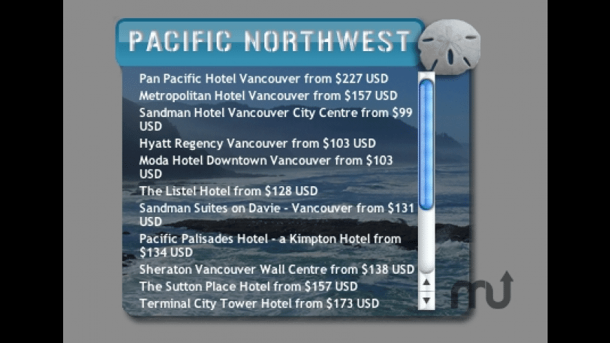 Pacific Northwest Hotels for Mac - review, screenshots
