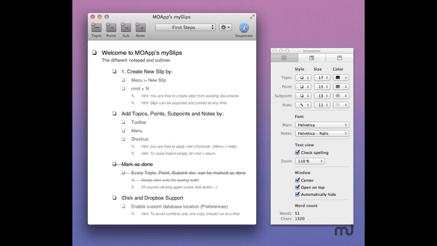 mySlips for Mac - review, screenshots