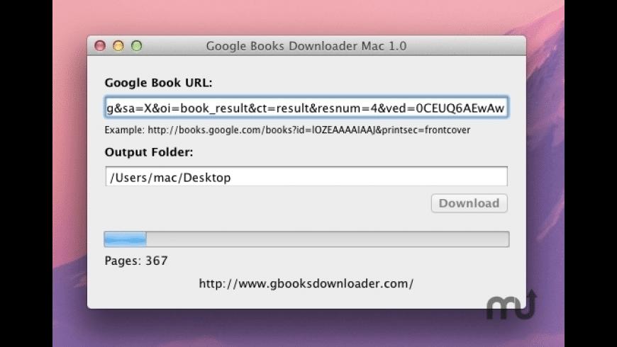 Google Books Downloader Mac for Mac - review, screenshots