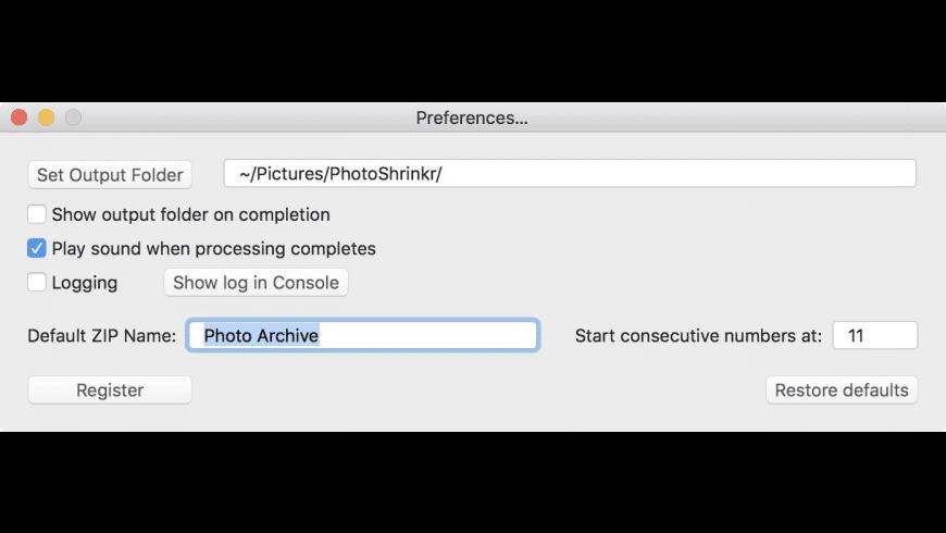 PhotoShrinkr for Mac - review, screenshots