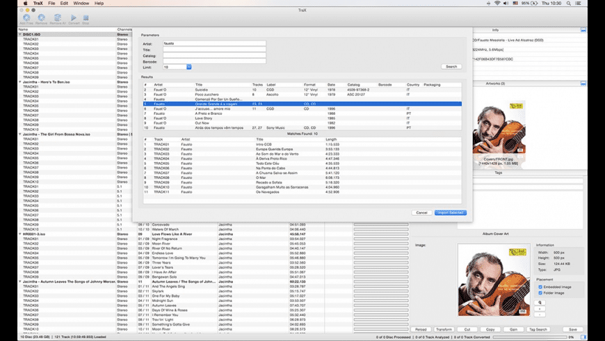 TraX for Mac - review, screenshots
