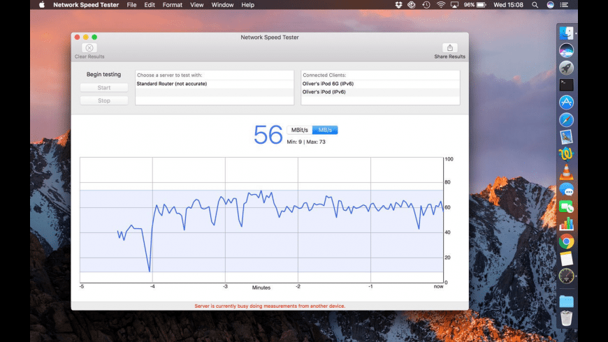 Network Speed Tester for Mac - review, screenshots
