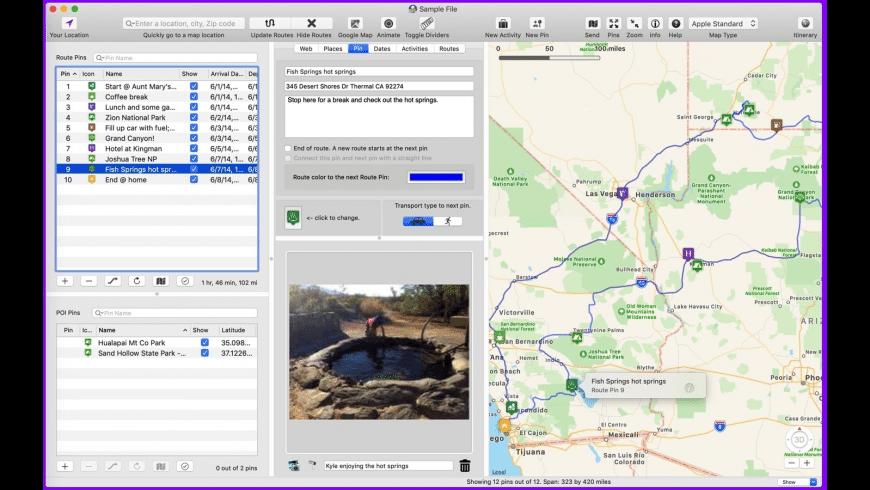 Road Trip Planner for Mac - review, screenshots