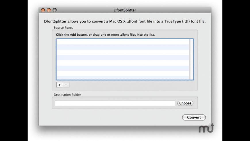 DfontSplitter for Mac - review, screenshots
