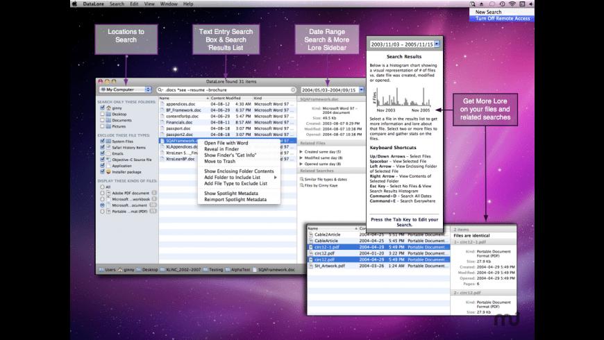 DataLore for Mac - review, screenshots