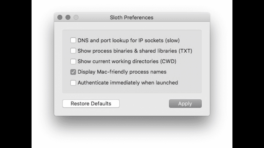 Sloth for Mac - review, screenshots