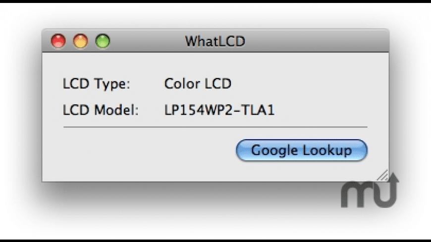 WhatLCD for Mac - review, screenshots