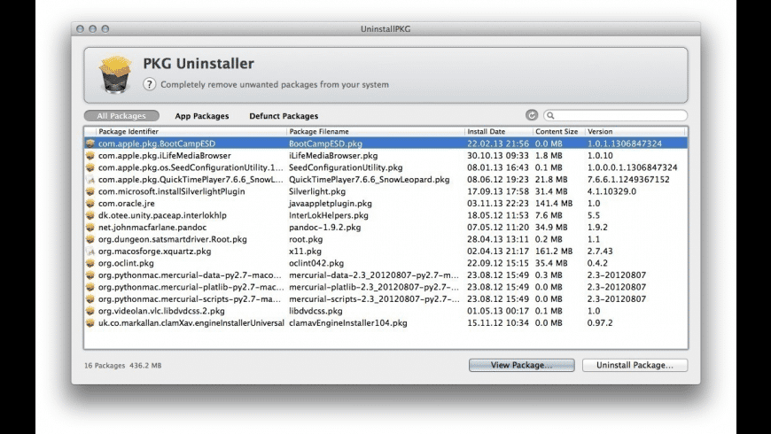 UninstallPKG for Mac - review, screenshots