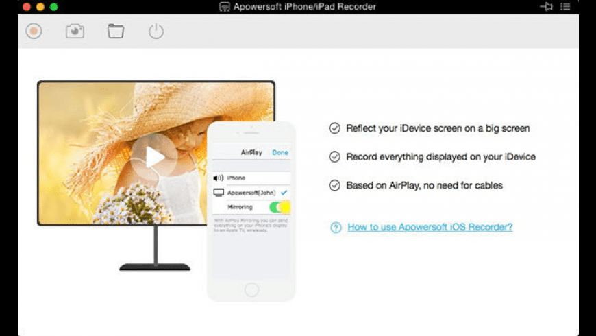 Apowersoft iPhone Recorder for Mac - review, screenshots