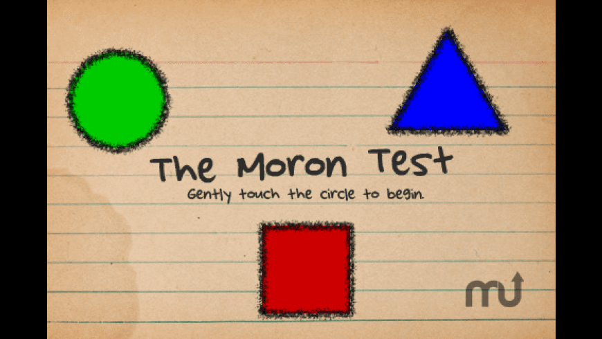 The Moron Test for Mac - review, screenshots
