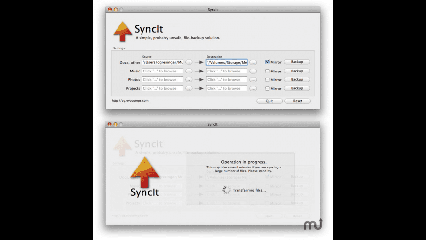 SyncIt for Mac - review, screenshots