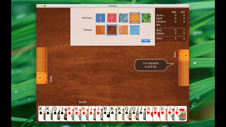 Pinochle for Mac - review, screenshots