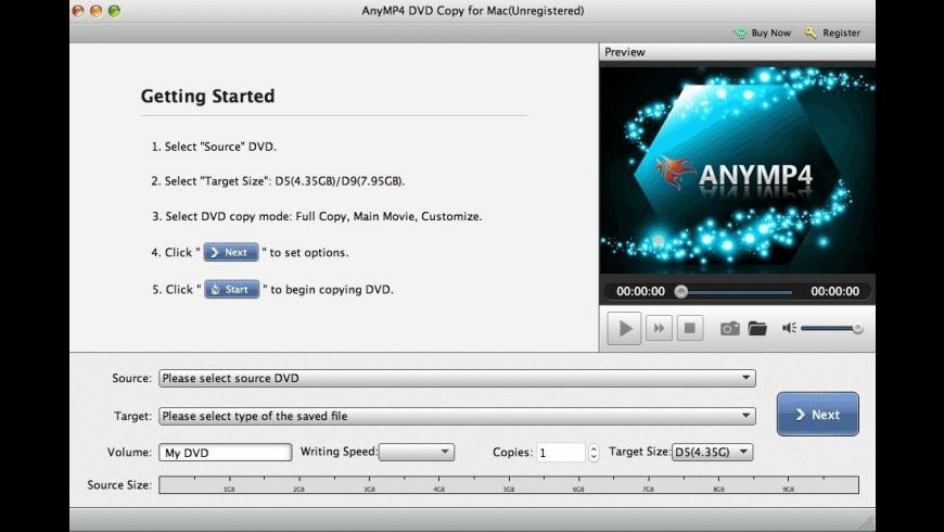 AnyMP4 DVD Copy for Mac - review, screenshots