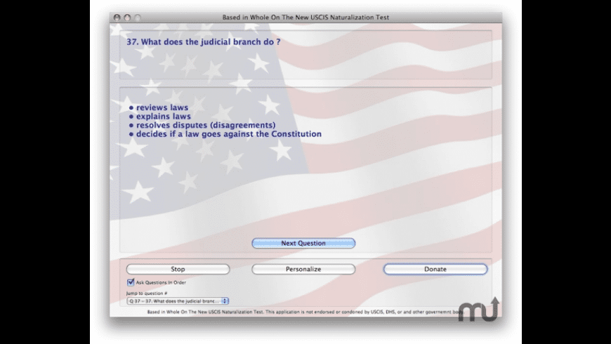 Naturalization Test for Mac - review, screenshots