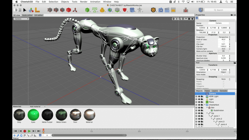 Cheetah3D for Mac - review, screenshots