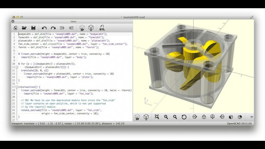 OpenSCAD for Mac - review, screenshots