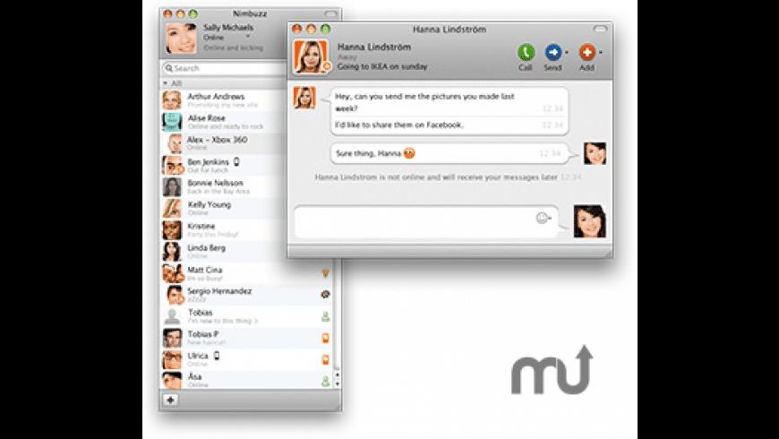 Nimbuzz for Mac - review, screenshots