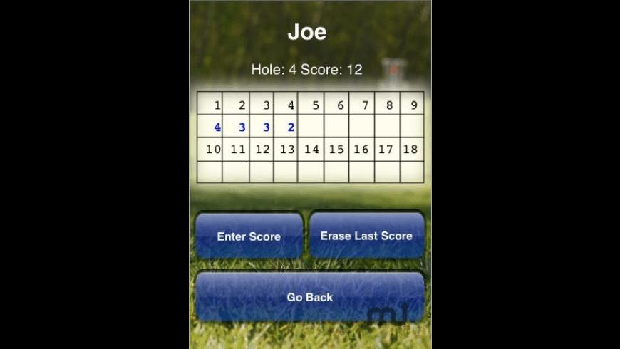 Disc Golf Scorecard for Mac - review, screenshots