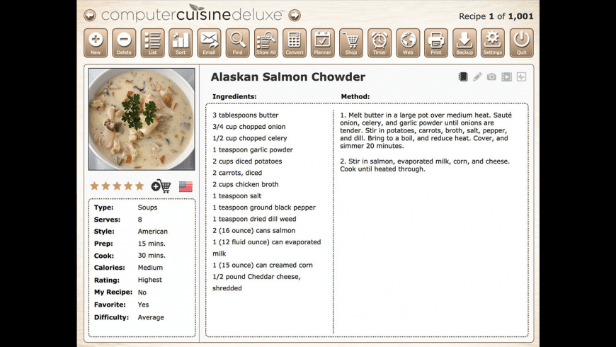 Computer Cuisine Deluxe for Mac - review, screenshots