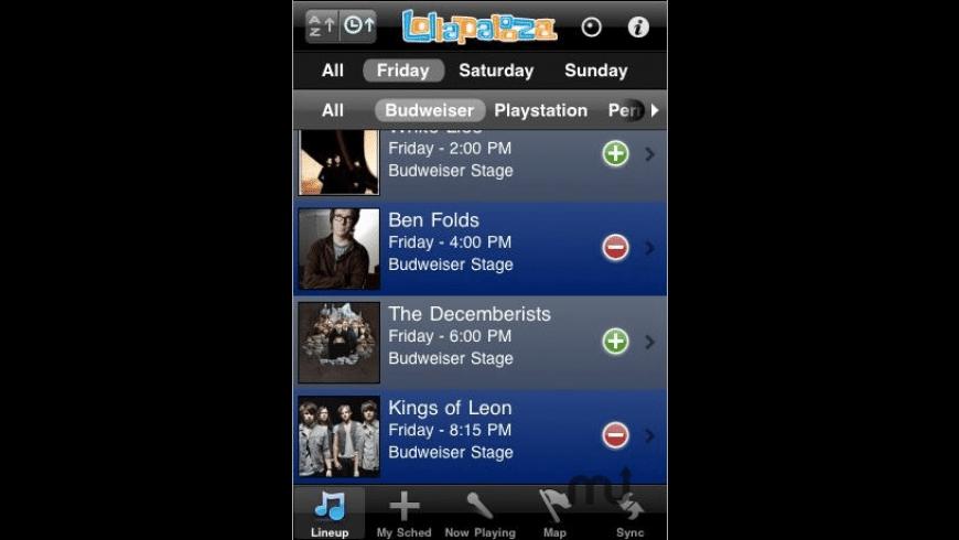 Lollapalooza for Mac - review, screenshots