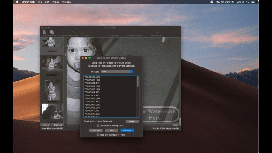 JPEG4Web for Mac - review, screenshots