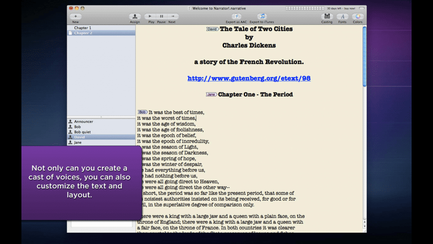 Narrator for Mac - review, screenshots