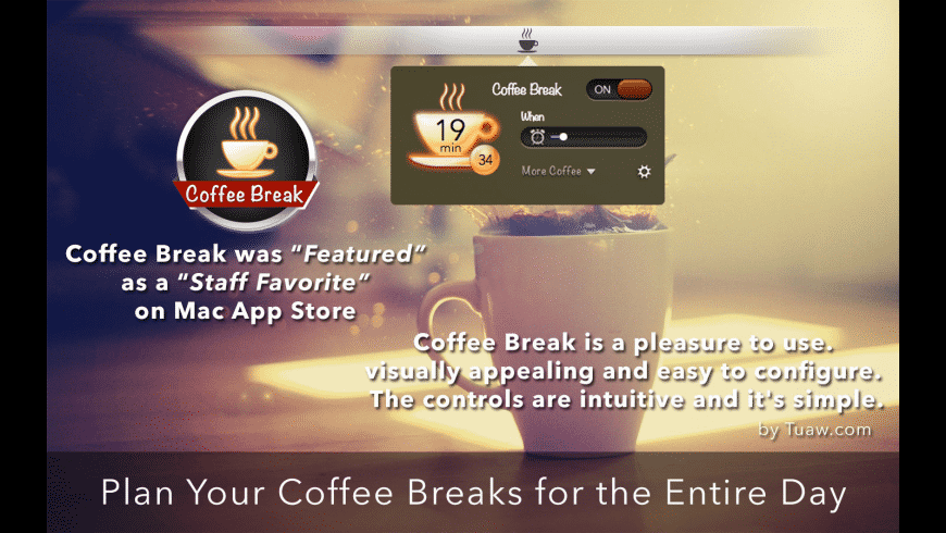 Coffee Break for Mac - review, screenshots