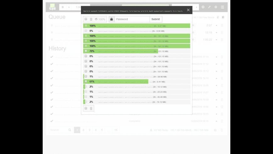 SABnzbd for Mac - review, screenshots