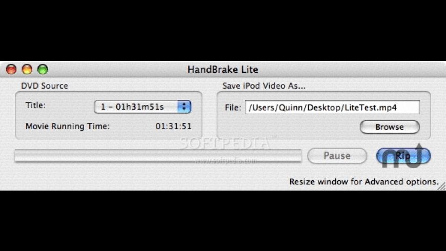 HandBrake Lite for Mac - review, screenshots