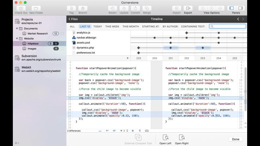 Cornerstone for Mac - review, screenshots