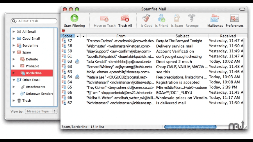 Spamfire X for Mac - review, screenshots
