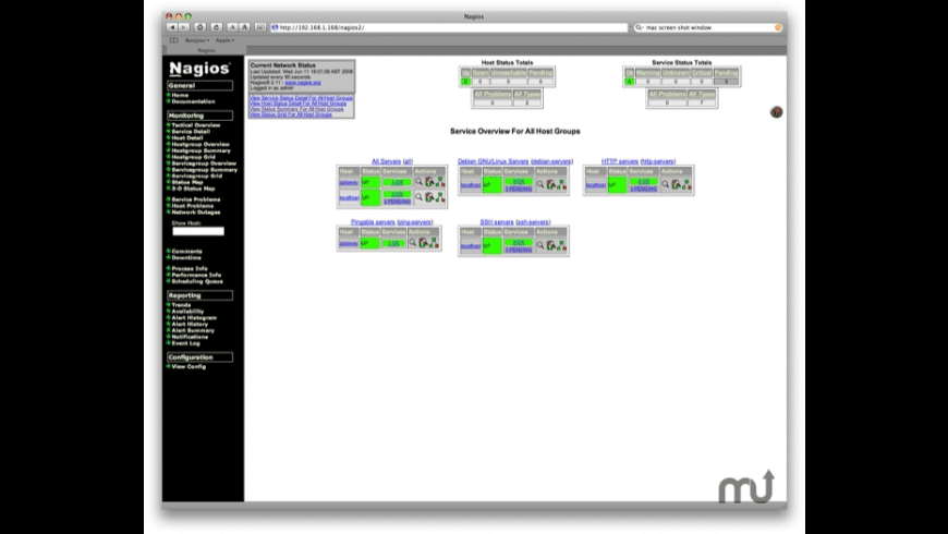 JumpBox for Nagios 2.x Network Monitoring for Mac - review, screenshots