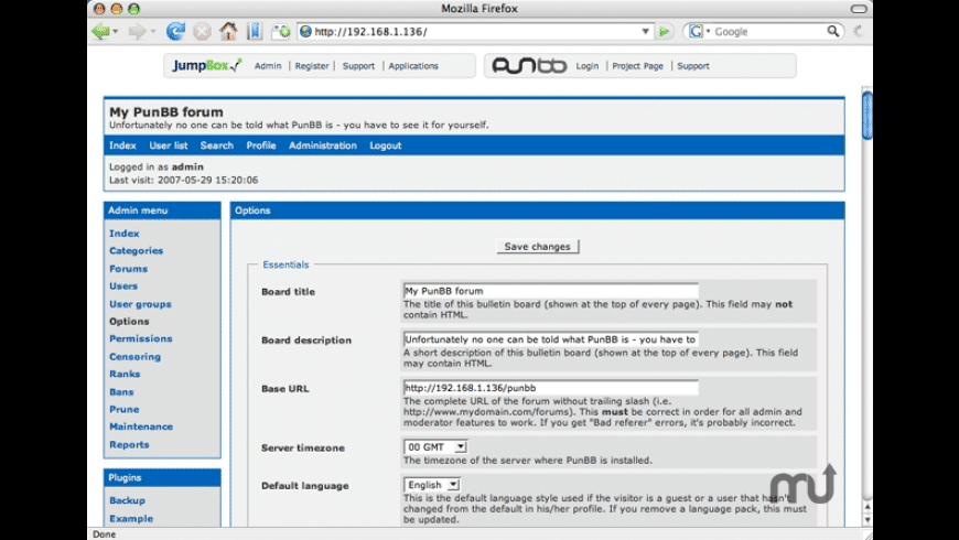 JumpBox for the PunBB Discussion Forums for Mac - review, screenshots