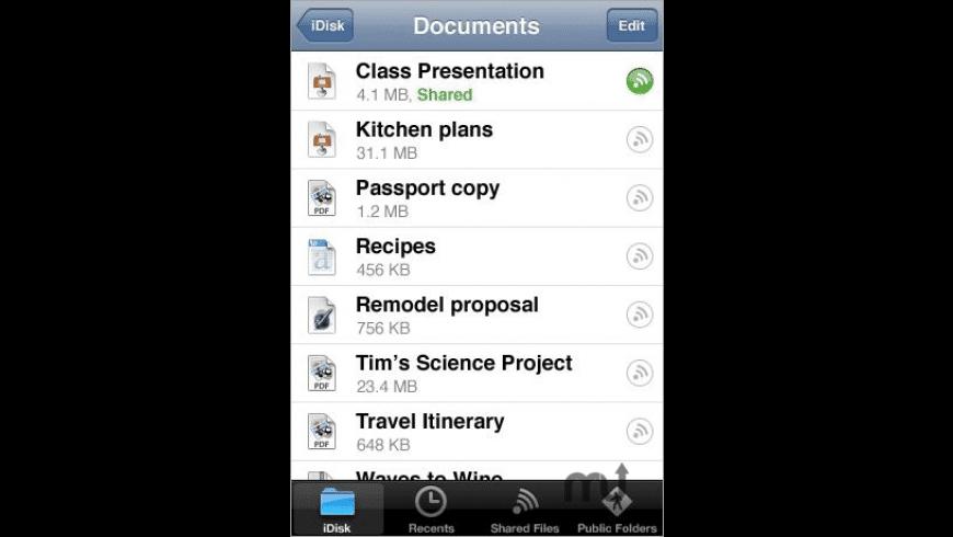MobileMe iDisk for Mac - review, screenshots