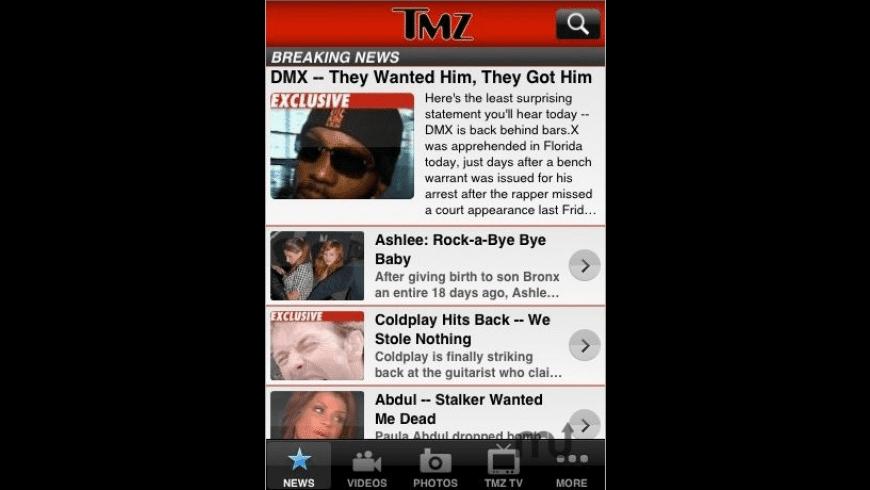 TMZ for Mac - review, screenshots