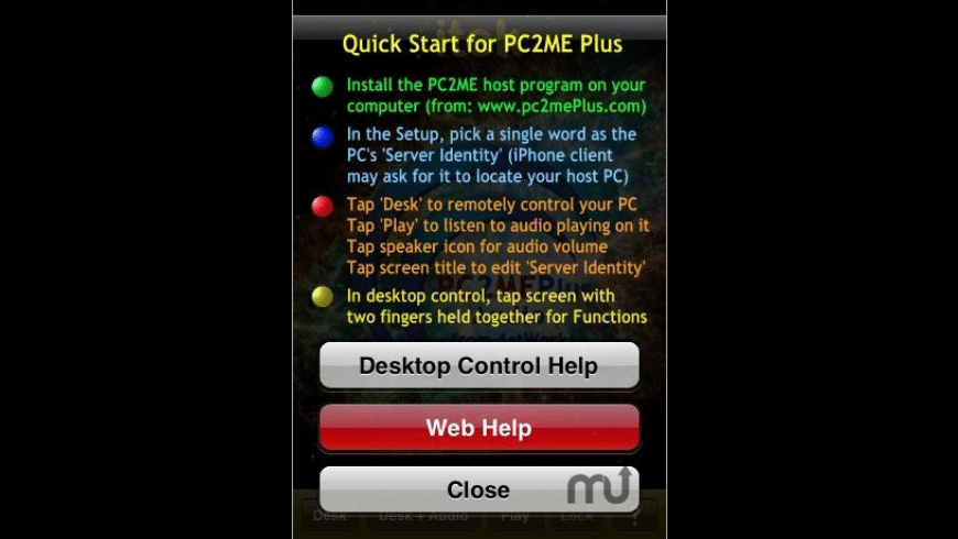 PC2ME+ Remote Desktop w/PC Audio for Mac - review, screenshots