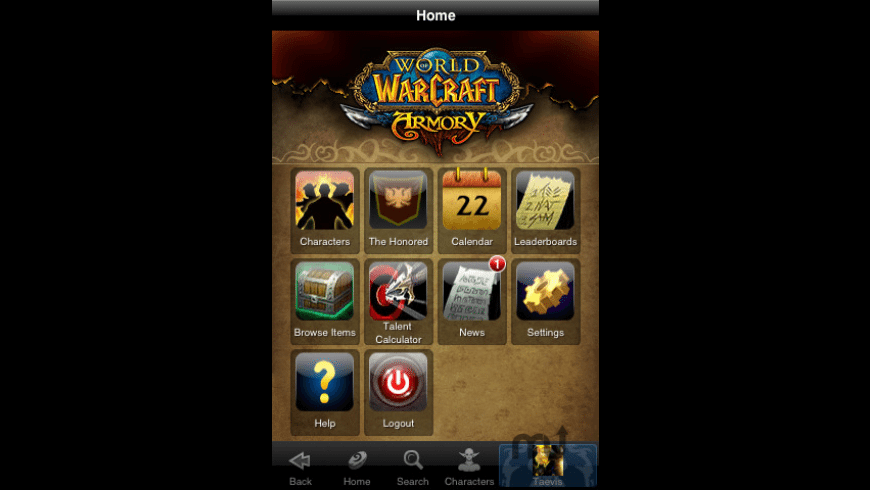 World of Warcraft Mobile Armory for Mac - review, screenshots