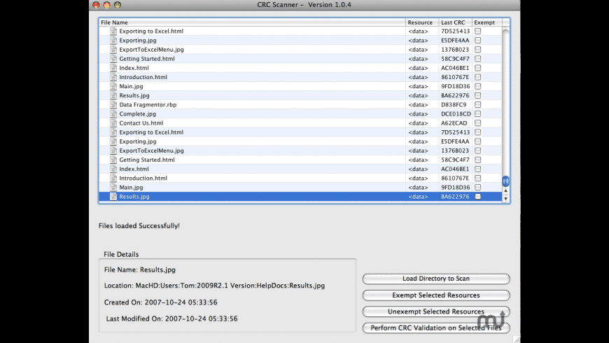 CRC Scanner for Mac - review, screenshots