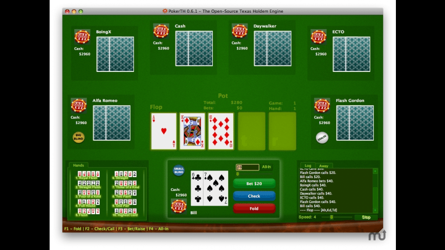 PokerTH for Mac - review, screenshots