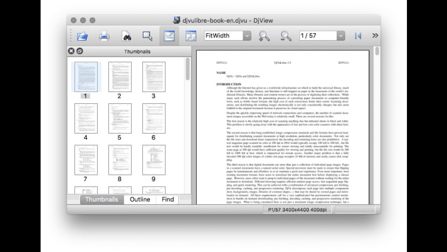 DjVuLibre for Mac - review, screenshots