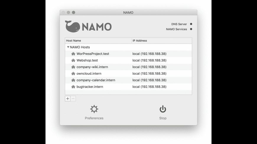NAMO for Mac - review, screenshots