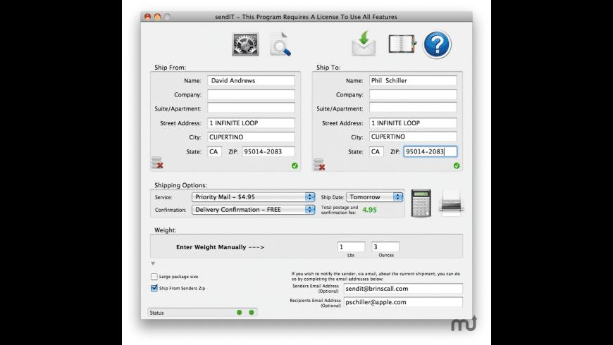 sendIT for Mac - review, screenshots
