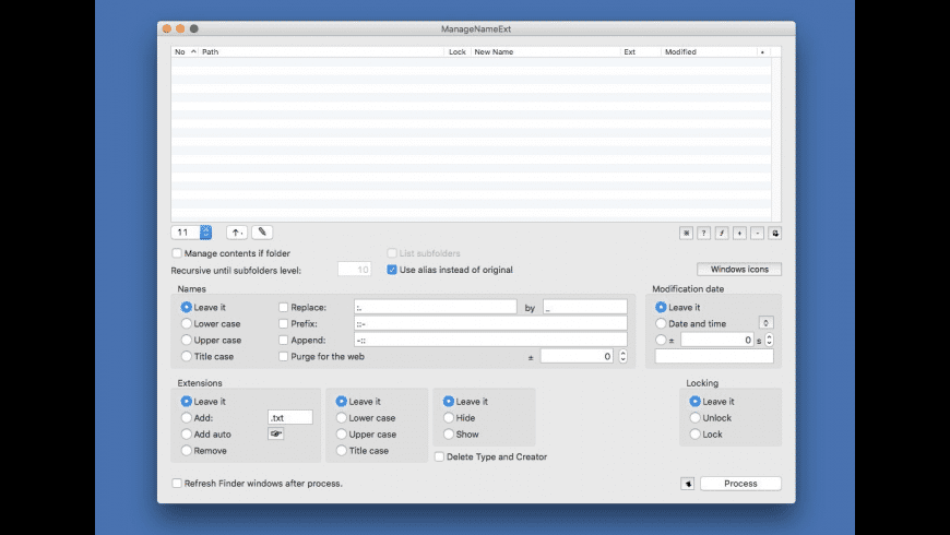 ManageNameExt for Mac - review, screenshots