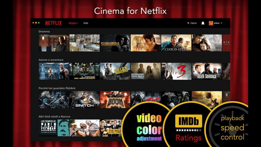 Cinema for Netflix for Mac - review, screenshots