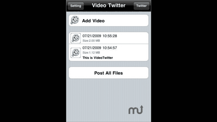 Video Twitter for Mac - review, screenshots