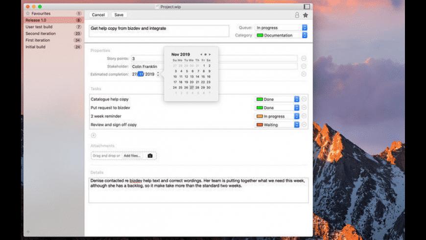 WipQ for Mac - review, screenshots