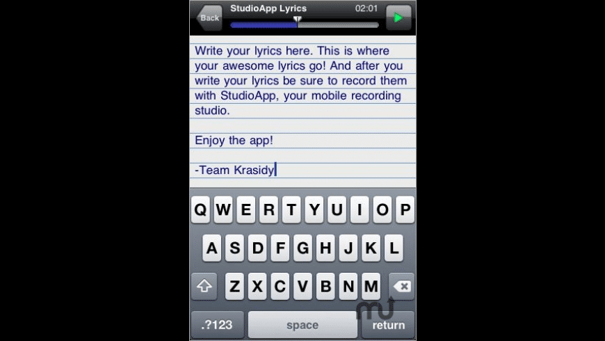 LyricPad for Mac - review, screenshots