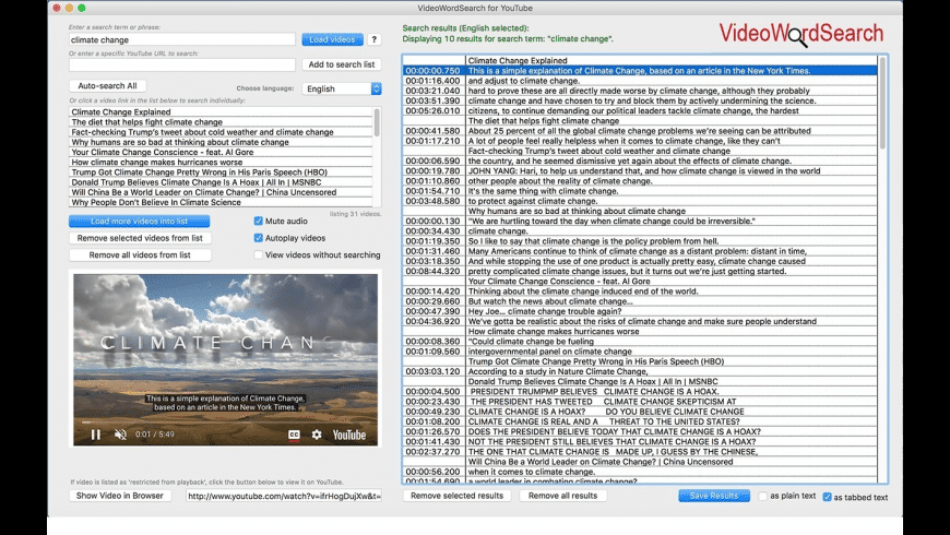 VideoWordSearch for Mac - review, screenshots