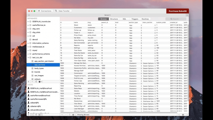 RoboDB MySQL Database Manager for Mac - review, screenshots