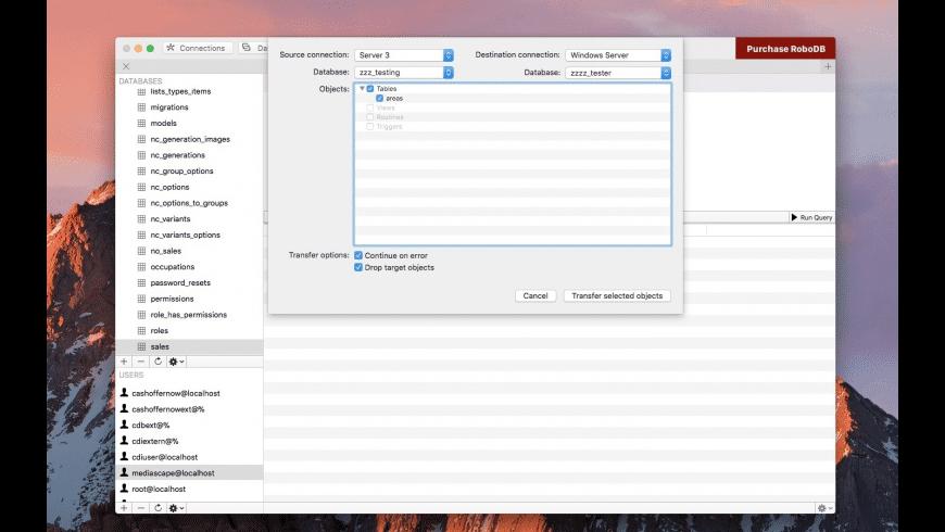 RoboDB MySQL Database Manager for Mac - review, screenshots